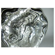 Art Nouveau Silver Plate Jewelry Box