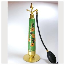 Tall Enameled 1926 DeVilbiss Perfume Atomizer