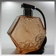 Large Figural Base Czech Perfume Atomizer