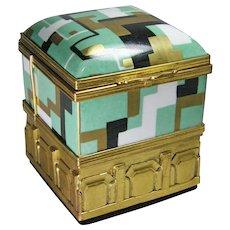 1930s Aladin French Art Deco Porcelain Box