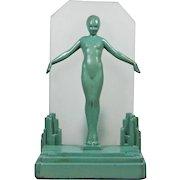 Frankart Art Deco Standing Nude Table Lamp 1930s
