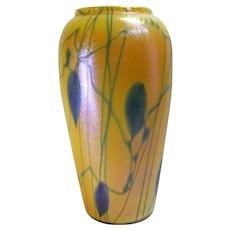 Durand Heart & Vine Art Glass Vase
