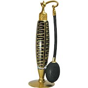 DeVilbiss 1926 Art Deco Black Gold Perfume Atomizer Bottle