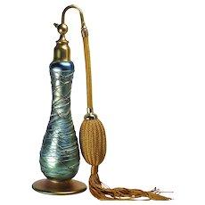 Rare Durand Threaded Art Glass Perfume Atomizer