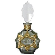 Czech Jeweled Perfume Bottle