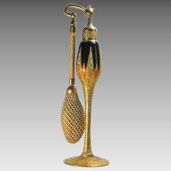 DeVilbiss 1926 Orange Gold Black Perfume Atomizer