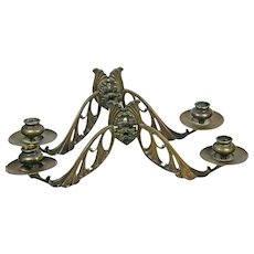 French Bronze Art Nouveau Candle Sconces c.1895