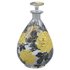 Delvaux Chrysanthemum Enameled French Perfume Bottle