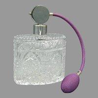 Large Czech Cut Crystal Perfume Atomizer