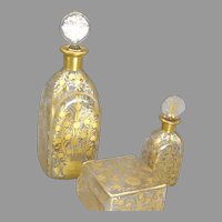 French 1920's Delvaux Perfume Set