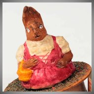 Sweet  Mrs Rabbit  Germany~ Figural Candy Container