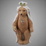 Heubach~Teddy Bear~ Bisque Bride ~7 inches 1910~