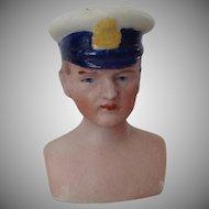 Dollhouse Man Chauffeur~ Police~ Captain~  Head only