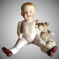 Antique Simon Halbig  790-3 5 inch  Boy Character All Bisque