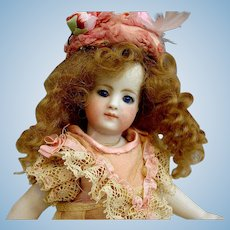 """8"""" Simon Halbig Mignonette~All bisque  Barefoot doll with Wardrobe"""