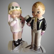"Wedding Cake Toppers Bride & Groom~ Grace Drayton~5 "" All Bisque Darling!!"
