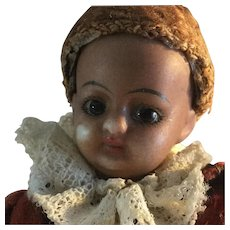 "5 1/4"", Antique, Mulatto Bisque socket head, Page Boy doll"
