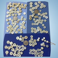 Small Old MOP buttons for Doll size