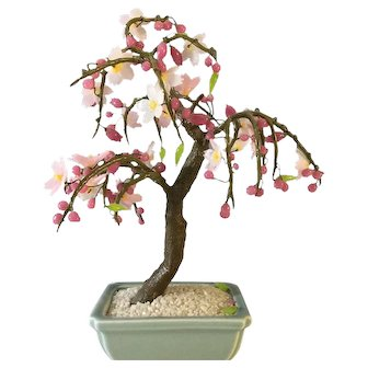 Miniature Japanese Cherry Tree for your doll ~ Glass Bonsai