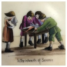 """""""In the Interests of Science""""~ Early German child's  Doll Di-section Dish~"""