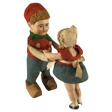 Schuco~  Dancing Dutch Boy with child