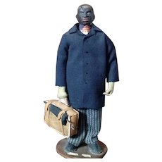 "American Folk Art Doll~ 'Rosa's Presiding Elder' ~ Black Preacher  9"" all original"