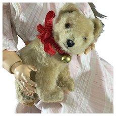 Mohair Hermann Bear cub~ Straw stuffed~ Doll size