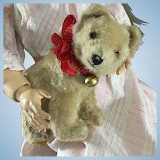 Mohair Hermann Bear cub~ Straw stuffed~ Doll size