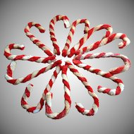 12 Chenille Candy Canes~ 6 Inches~ Vintage
