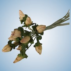 Small Pink Rose Buds for Doll Dressing & Display