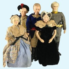 Kimport Historical Dolls~ Washington, Jackson, Lee & Spouses
