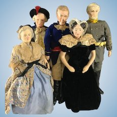 Kimport Historical Dolls~ Washington, Jackson, Lee & Spouses