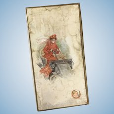 Gibson Girl & Automobile  Paper Box ~ Nice For paper dolls