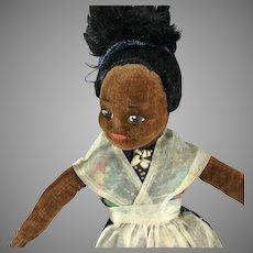 Nora Wellings~ Brown Velvet  Bahamian Lady~ Islander Girl 1930