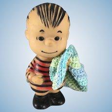 Linus~ Peanuts vinyl Doll~ United Features