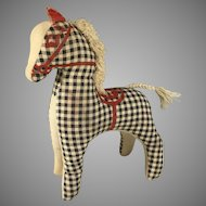 Vintage Checkered Toy Pony~ Doll Friend~