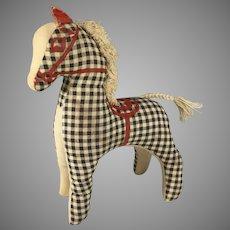 Vintage Checkered Toy Pony~ Doll Friend~