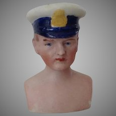 Dollhouse Man Chauffeur or Police or Captain~  Head only