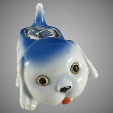 Googly Eyed Blue dog~ MIJ~ Just for Fun!