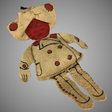 Felt Flapper Sachet doll~Cute 1930 Novelty
