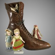 Victorian Leather Shoe for Doll Habitation ~ Fabulous!