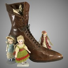 Victorian Leather Shoe for Doll Habitation ~ Fabulous!