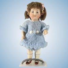"""5"""" Kestner~ All Bisque~ Smiling Happy little doll"""