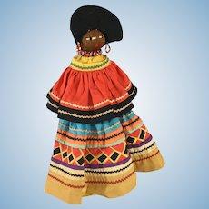 Seminole Palmetto Doll in Patchwork Dress ca. 1930s