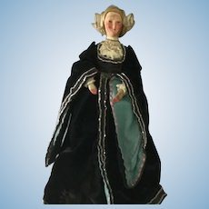 Paper Mache Charity Fashion half doll lady