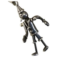 Pinocchio Charm ~925 Mark- Jointed Limbs- Charming