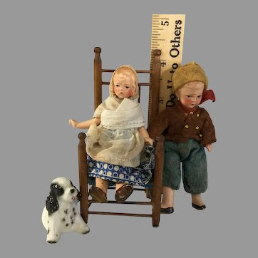 German Painted All Bisque Couple~ Original ~