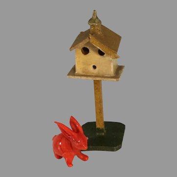 Mini Birdhouse~ Germany Wooden ~Dolls house