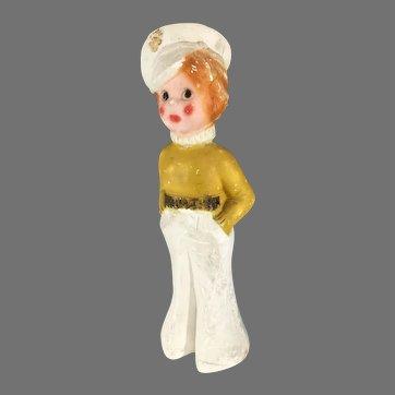 Vintage  Chalkware Sailor~ Carnival Statue ~ Amusement Park Fair Prize