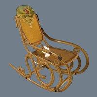 Mini~ Tin litho Rocking Chair
